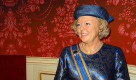 Holenderska Princess Beatrix wosku postać Obraz Stock