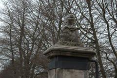 Holenderska stara lwa kamienia rzeźba fotografia stock