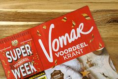 Holenderska supermarketa Vomar reklamy ulotka obraz royalty free