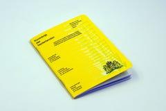 Holenderska wersja Międzynarodowy świadectwo szczepienie lub profilaktyka zdjęcia royalty free