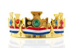 Holenderska złota korona dla królewiątka Fotografia Royalty Free
