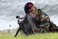 Holenderski żołnierz piechoty morskiej Zdjęcie Stock