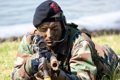 holenderski żołnierz piechoty morskiej Fotografia Stock
