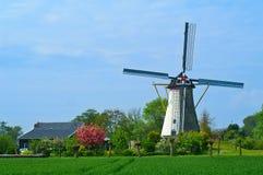 holenderski colijnsplaat wiatraczek Zeeland Zdjęcia Stock