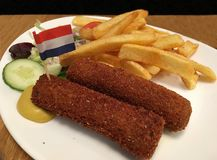 Holenderski klopsik, wołowina, mięso Obraz Royalty Free