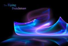 holenderski latający fikcyjny statek royalty ilustracja