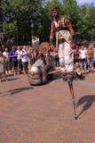 Holenderski miasta deventer na stilts zdjęcia stock