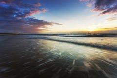 Holenderski morze krajobraz Zdjęcia Stock