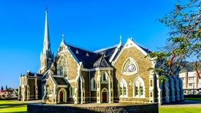 Holenderski Reformowany kościół w Graaff-Reinet w Południowa Afryka ` s Karoo Małym regionie Ja jest krajowym zabytkiem Południow Obrazy Royalty Free