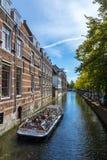 Holenderski ser w okno, Delft holandie Obrazy Royalty Free