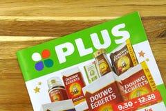 Holenderski supermarket Plus reklamy ulotka obraz stock