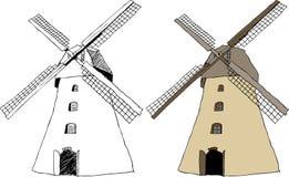 holenderski tradycyjny wiatraczek Fotografia Royalty Free