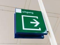 Holenderski wyjście znak Obrazy Stock
