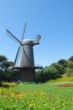 holenderskiej bramy złoty parkowy wiatraczek Zdjęcie Royalty Free