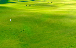 Holes and bunkers on the golf course Royalty Free Stock Photography