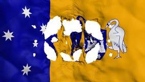 Holes in Canberra flag. Holes in Canberra, capital of Australia flag, white background, 3d rendering stock illustration