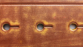 Holes on leather belt backhround Royalty Free Stock Photography