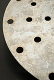 Holes in metal. Royalty Free Stock Photo