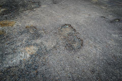 Holes on road surfaces Stock Photo