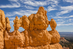 Holes in the rocks in Bryce Canyon Royalty Free Stock Image