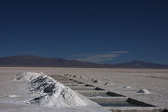 Holes in Salinas Grandes Stock Image
