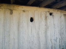 Holes in wall Royalty Free Stock Photography