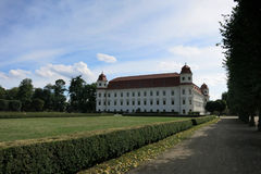 HOLESOV, CZECH REPUBLIC - JULY 25: Baroque castle and Garden in. Holesov on July 25, 2017 in Moravia, Czech Republic royalty free stock photo