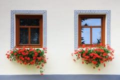 Holesovice - Baroque popular da vila do UNESCO fotografia de stock