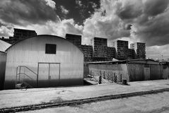Holesovice harbor, Prague Stock Photo