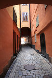 Holeway in Stockholm city center Royalty Free Stock Photos