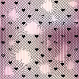 Holey mesh with hearts. Stock Images