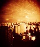 holga experience 2013 - São Paulo skyline on lomo Stock Image