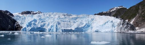 Holgate Glacier Panoramic stock image