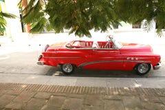 Holguin, Cuba, 11.24.2018 retro car Buick red 1950s release royalty free stock photo