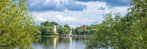 Holguin pond in Peterhof. St Petersburg Russia. Holguin pond in Peterhof. St Petersburg, Russia Stock Photos