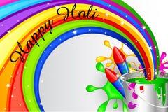 Holi庆祝设计 库存照片