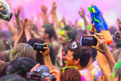 Holi节日在欧洲 库存图片
