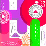 Holi节日庆祝的时髦的五颜六色的文本 库存图片