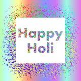 Holi节日正方形横幅 图库摄影