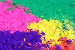 holi节日的明亮的颜色 免版税库存图片