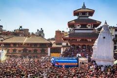 Holi节日2013年,加德满都,尼泊尔 免版税库存图片