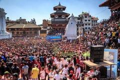 Holi节日2013年,加德满都,尼泊尔 库存图片
