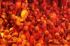 Holi świętowanie przy Barsana Zdjęcie Royalty Free