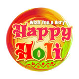 Holi - ινδικό φεστιβάλ άνοιξη των χρωμάτων ευτυχές holi Ζωηρόχρωμο έμβλημα εορτασμών Λογότυπο φεστιβάλ χρωμάτων Στοκ φωτογραφία με δικαίωμα ελεύθερης χρήσης