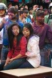 holi Νεπάλ φεστιβάλ χρωμάτων Στοκ εικόνα με δικαίωμα ελεύθερης χρήσης