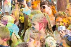 holi φεστιβάλ χρωμάτων χρώματα Στοκ Εικόνα