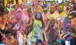 Holi, фестиваль цветов Стоковые Фотографии RF