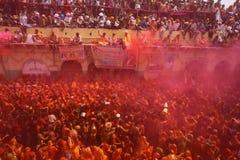 Holi -颜色节日在印度 免版税库存照片