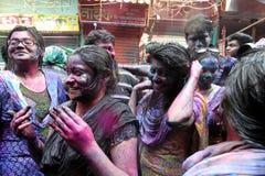 Holi av den Hindus festivalen Arkivbild