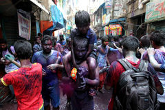 Holi av den Hindus festivalen Royaltyfri Foto